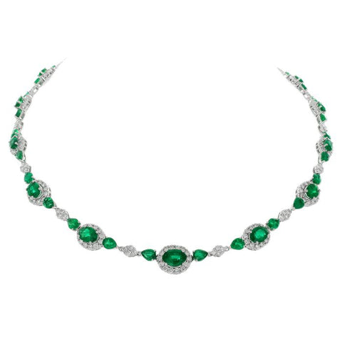6F0414AWCHDE001 18KT Emerald Necklace