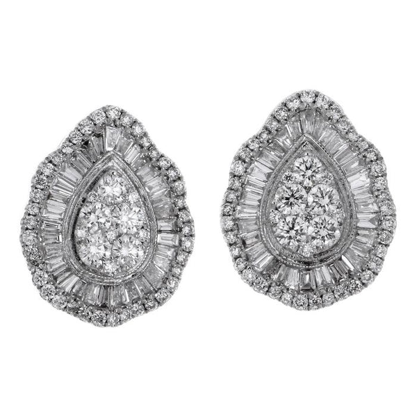 6F043617AWERD0 18KT White Diamond Earring