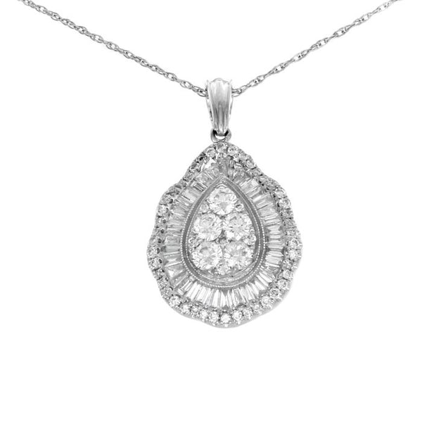 6F043618AWPDD0 18KT White Diamond Pendant