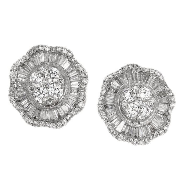 6F043620AWERD0 18KT White Diamond Earring