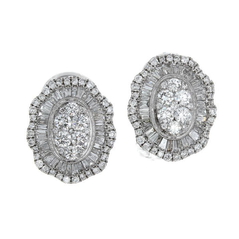 6F043622AWERD0 18KT White Diamond Earring