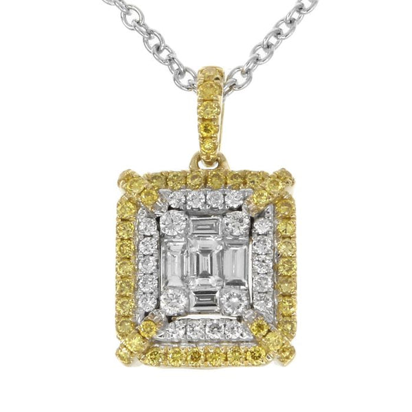 6F043890AUPDYD 18KT Yellow Diamond Pendant