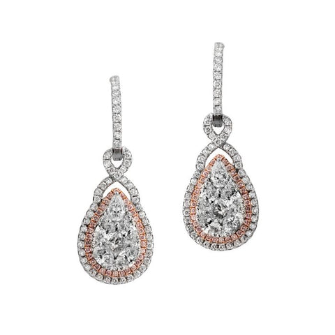 6F043919AQERPD 18KT Pink Diamond Earring