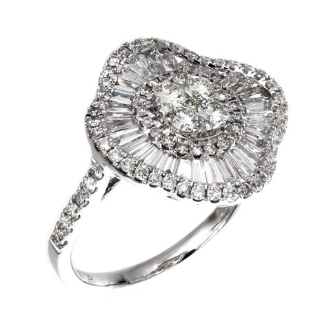 6F045166AWLRD0 18KT White Diamond Ring
