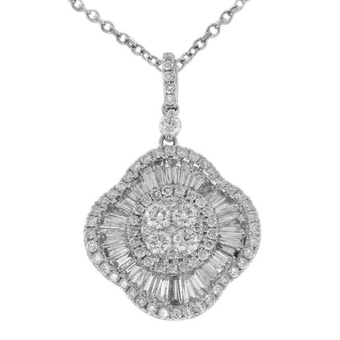 6F045168AQPDD0 18KT White Diamond Pendant