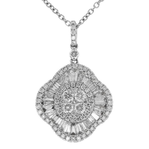 6F045168AWPDD0 18KT White Diamond Pendant