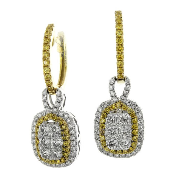 6F045192AUERYD 18KT Yellow Diamond Earring