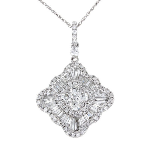 6F045193AWPDD0 18KT White Diamond Pendant