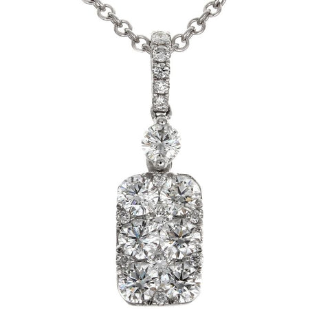 6F045388AWPDD0 18KT White Diamond Pendant