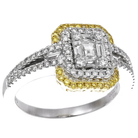 6F045568AULRYD2 18KT Yellow Diamond Ring