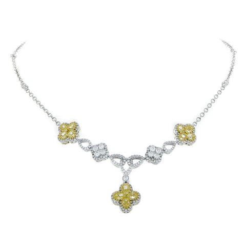 6F046200AUCHYD 18KT Yellow Diamond Necklace