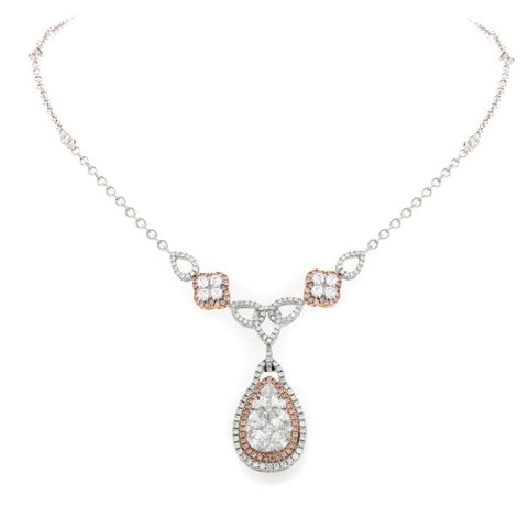 6F046203AQCHPD 18KT Pink Diamond Necklace