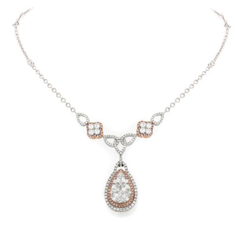 6F046416AQCHPD 18KT Pink Diamond Necklace