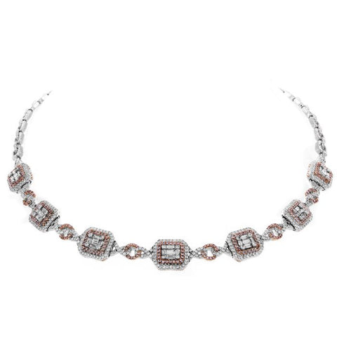 6F046541AQCHPD 18KT Pink Diamond Necklace