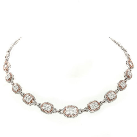 6F046542AQCHPD 18KT Pink Diamond Necklace