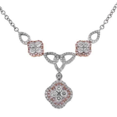 6F047161AQCHPD 18KT Pink Diamond Necklace