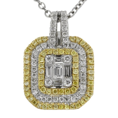 6F047200AUPDYD 18KT Yellow Diamond Pendant