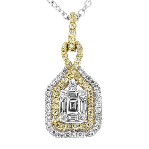 6F047285AUPDYD 18KT Yellow Diamond Pendant