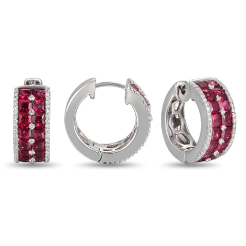6F049336AWERDR 18KT Ruby Earring