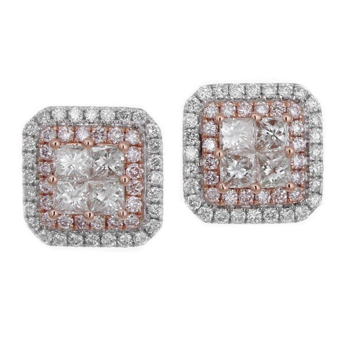 6F050112AQERPD 18KT Pink Diamond Earring