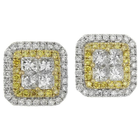 6F050112AUERYD 18KT Yellow Diamond Earring