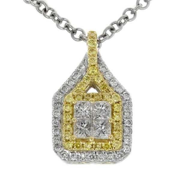 6F050114AUPDYD 18KT Yellow Diamond Pendant