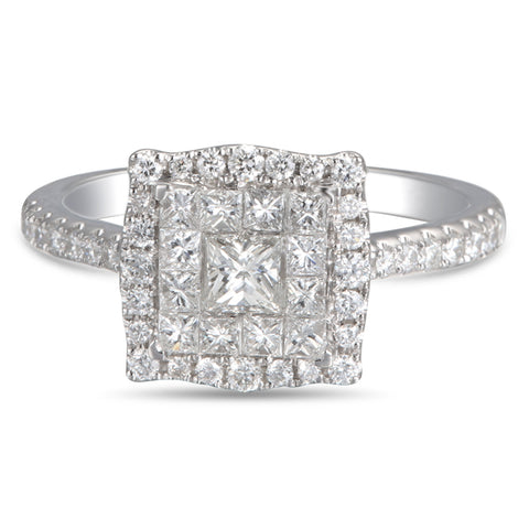 6F050563AWLRD0 18KT White Diamond Ring