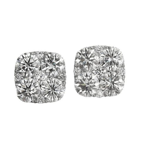 6F050606AWERD0 18KT White Diamond Earring