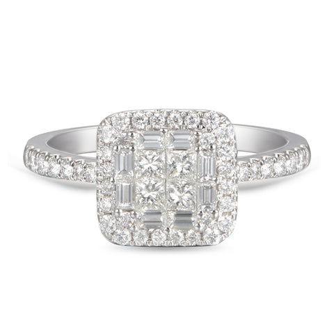 6F050614AQLRD0 18KT White Diamond Ring
