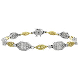 6F050621AULBYD 18KT Yellow Diamond Bracelet
