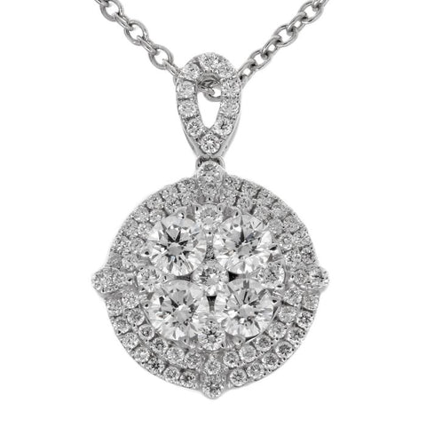 6F050625AWPDD0 18KT White Diamond Pendant