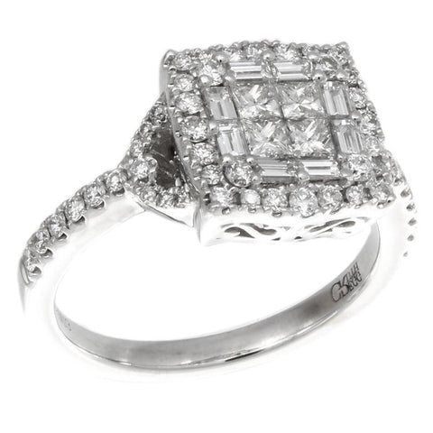 6F050631AWLRD0 18KT White Diamond Ring
