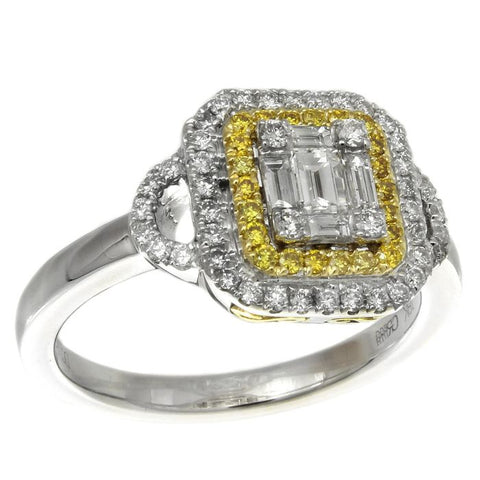 6F052881AULRYD 18KT Yellow Diamond Ring