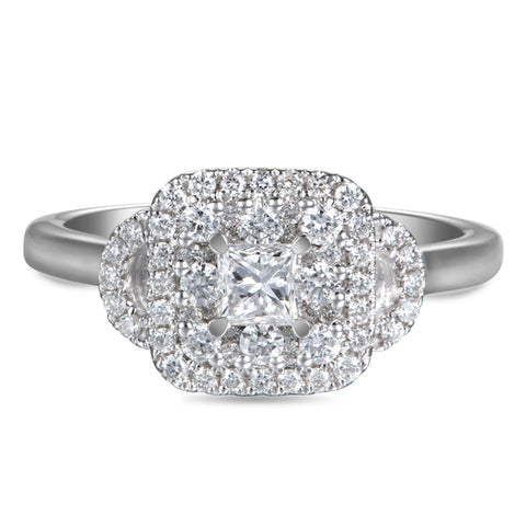 6F052919AWLRD0 18KT White Diamond Ring