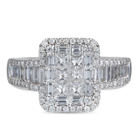 6F052923AQLRD0 18KT White Diamond Ring