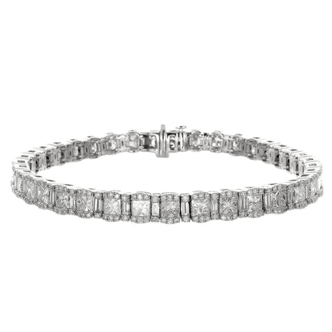 6F052926AWLBD0 18KT White Diamond Bracelet