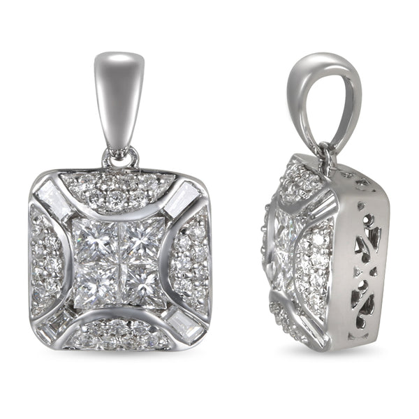 6F052943AWPDD0 18KT White Diamond Pendant