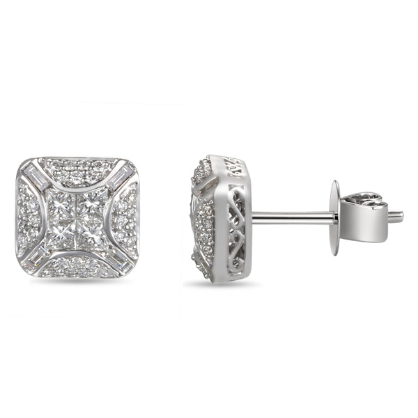 6F052944AWERD0 18KT White Diamond Earring
