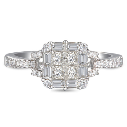 6F053388AWLRD0 18KT White Diamond Ring