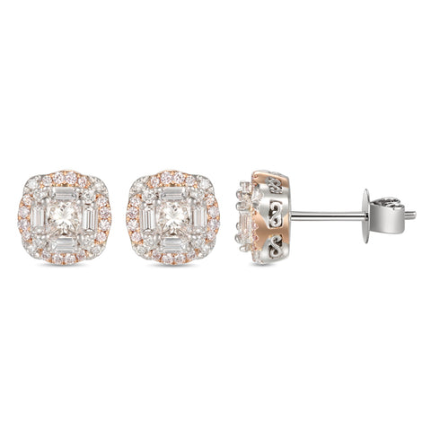 6F055216AQERPD 18KT Pink Diamond Earring