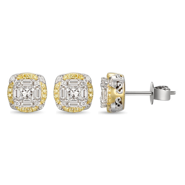 6F055216AUERYD 18KT Yellow Diamond Earring