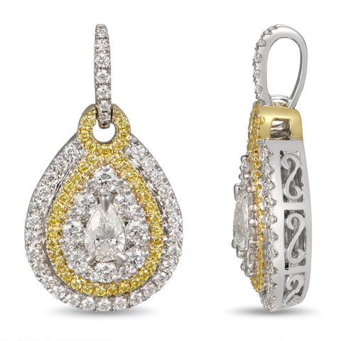 6F055219AUPDYD 18KT Yellow Diamond Pendant