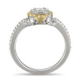 6F055222AULRYD 18KT Yellow Diamond Ring