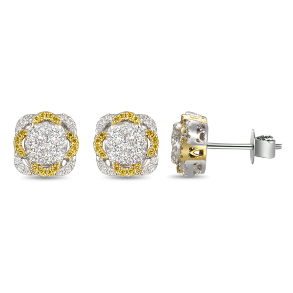 6F055246AUERYD 18KT Yellow Diamond Earring