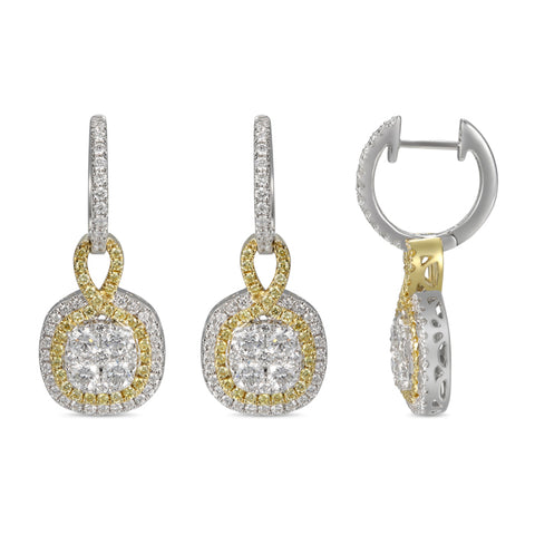 6F055316AUERYD 18KT Yellow Diamond Earring