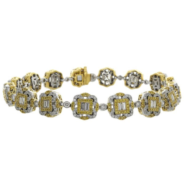 6F056010AULBYD 18KT Yellow Diamond Bracelet