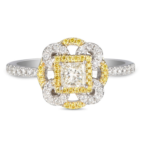 6F056011AULRYD 18KT Yellow Diamond Ring