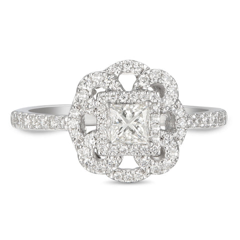 6F056011AWLRD0 18KT White Diamond Ring