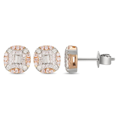 6F056015AQERPD 18KT Pink Diamond Earring