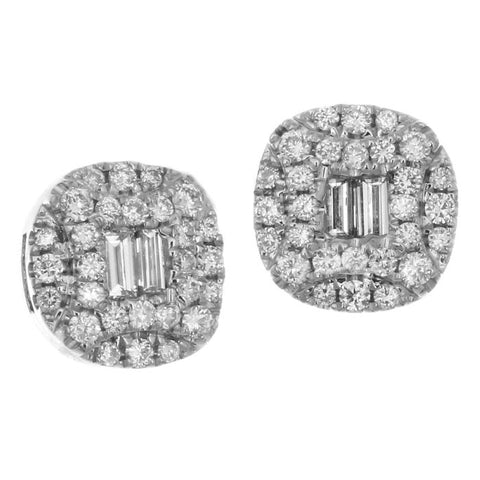 6F056015AWERD0 18KT White Diamond Earring